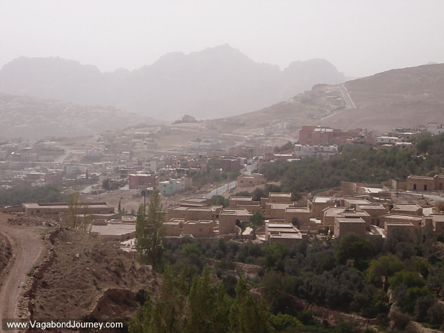 photo of the view over wadi musa