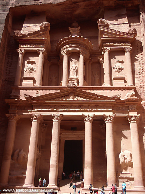 photo of the treasury at petra