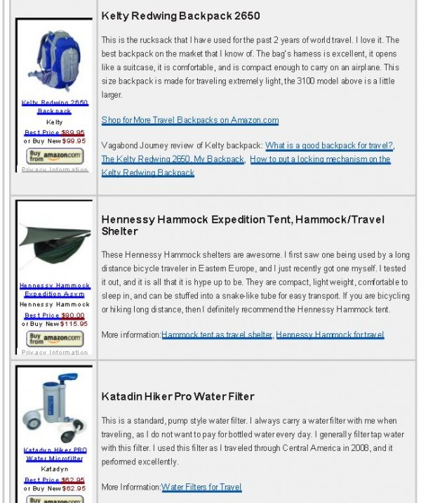 Trusted Travel Gear Online Store