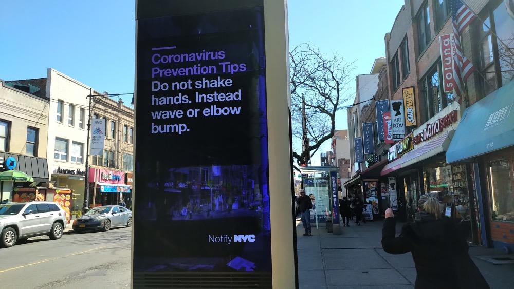 Coronavirus sign NYC