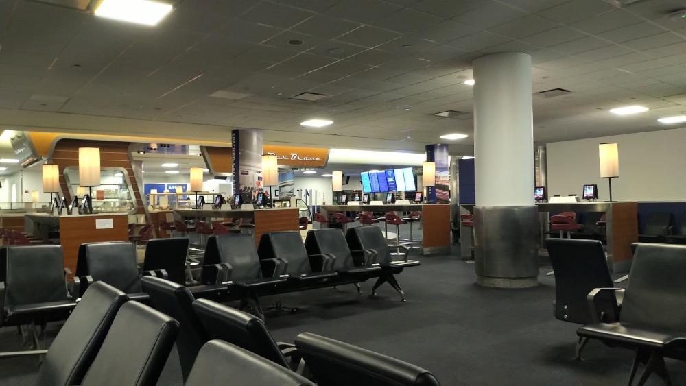 Empty Laguardia airport coronavirus