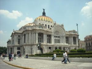 Bellas Artes in downtown Mexico City