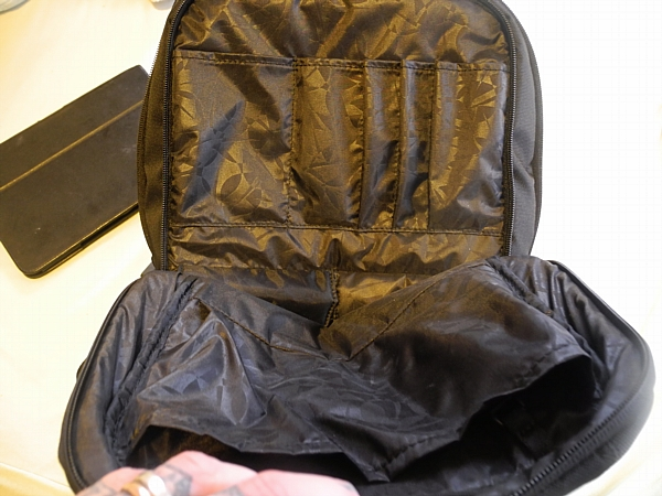 Inside the Icase ICON backpack.