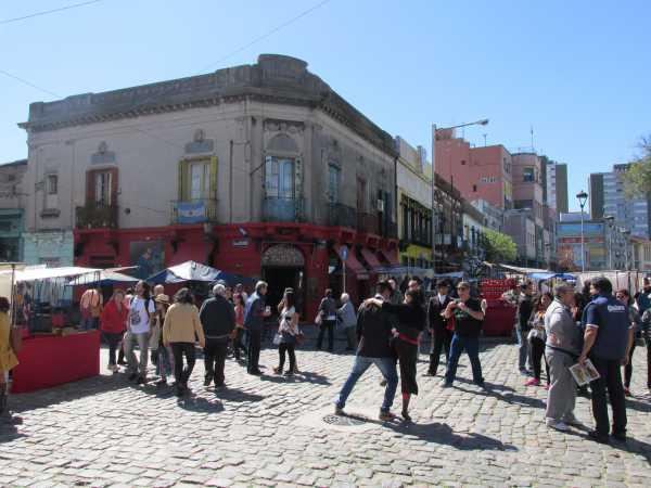 La Boca, in Buenos Aires, is a touristic shithole.