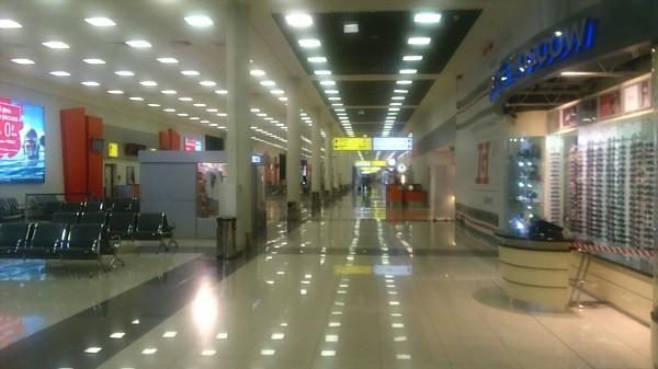 Transit zone of Moscow Sheremetyevo.
