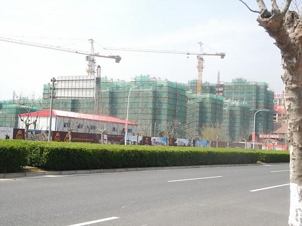Buildings still under construction in Nanhui