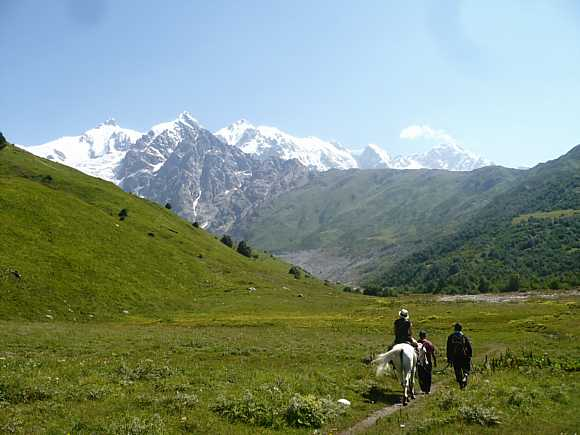Mountains of Svaneti, Georgia