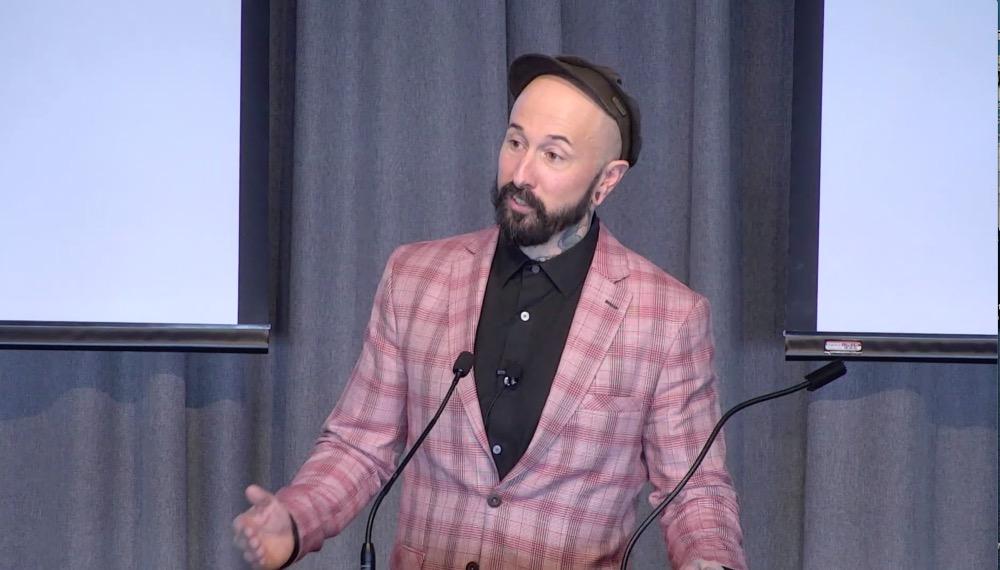Wade Shepard public speaking at University of Michigan