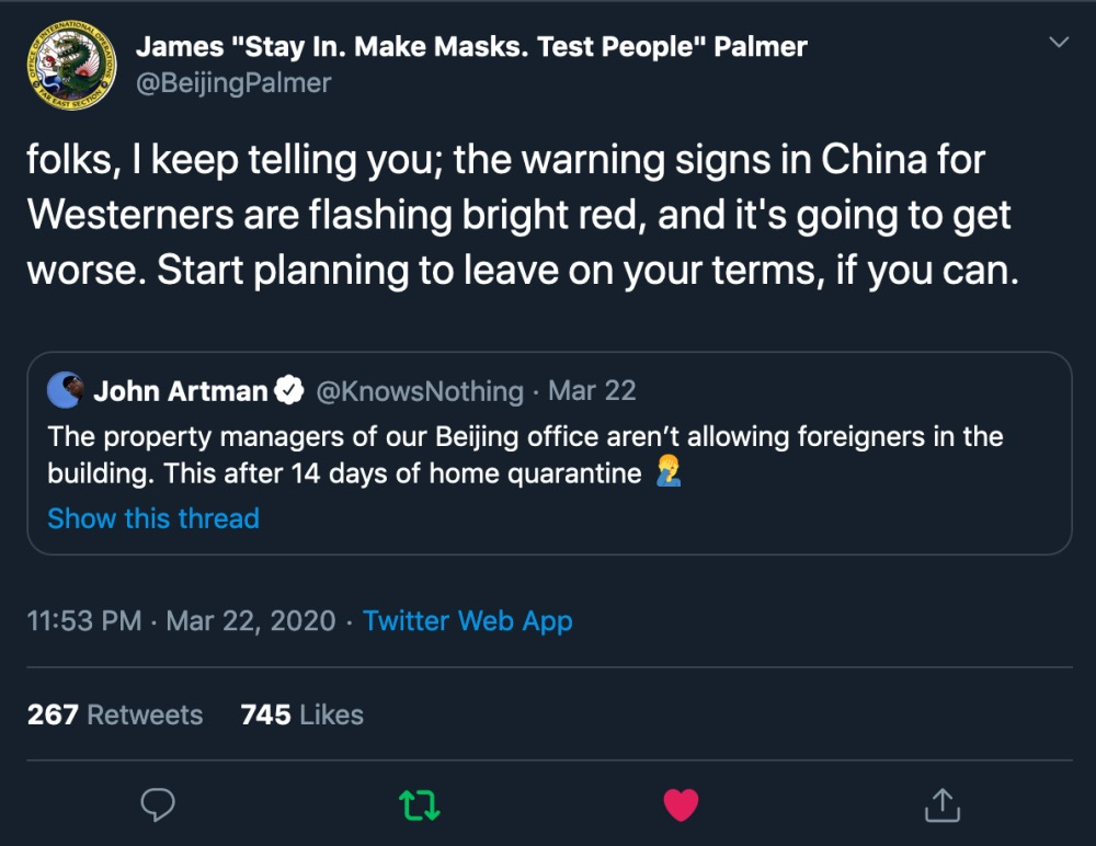 China xenophobia