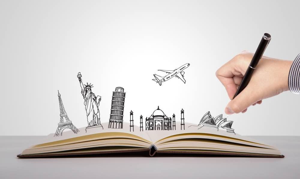 Travel writing logo