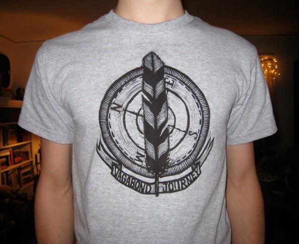 Vagabond Journey Woodblock print t-shirt