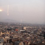 Aerial view of Mexico City from the Latinoamericana tower