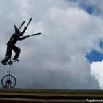 Juggler Art Installation in Bogota
