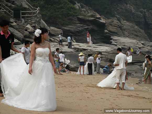 brides on Chinese beach