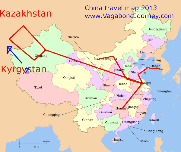Projected travels, Jan - March 2013