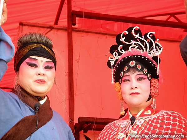 Actresses in a Chinese opera backstage