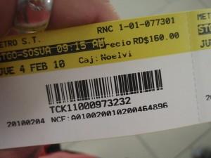 Dominican Republic Bus Ticket