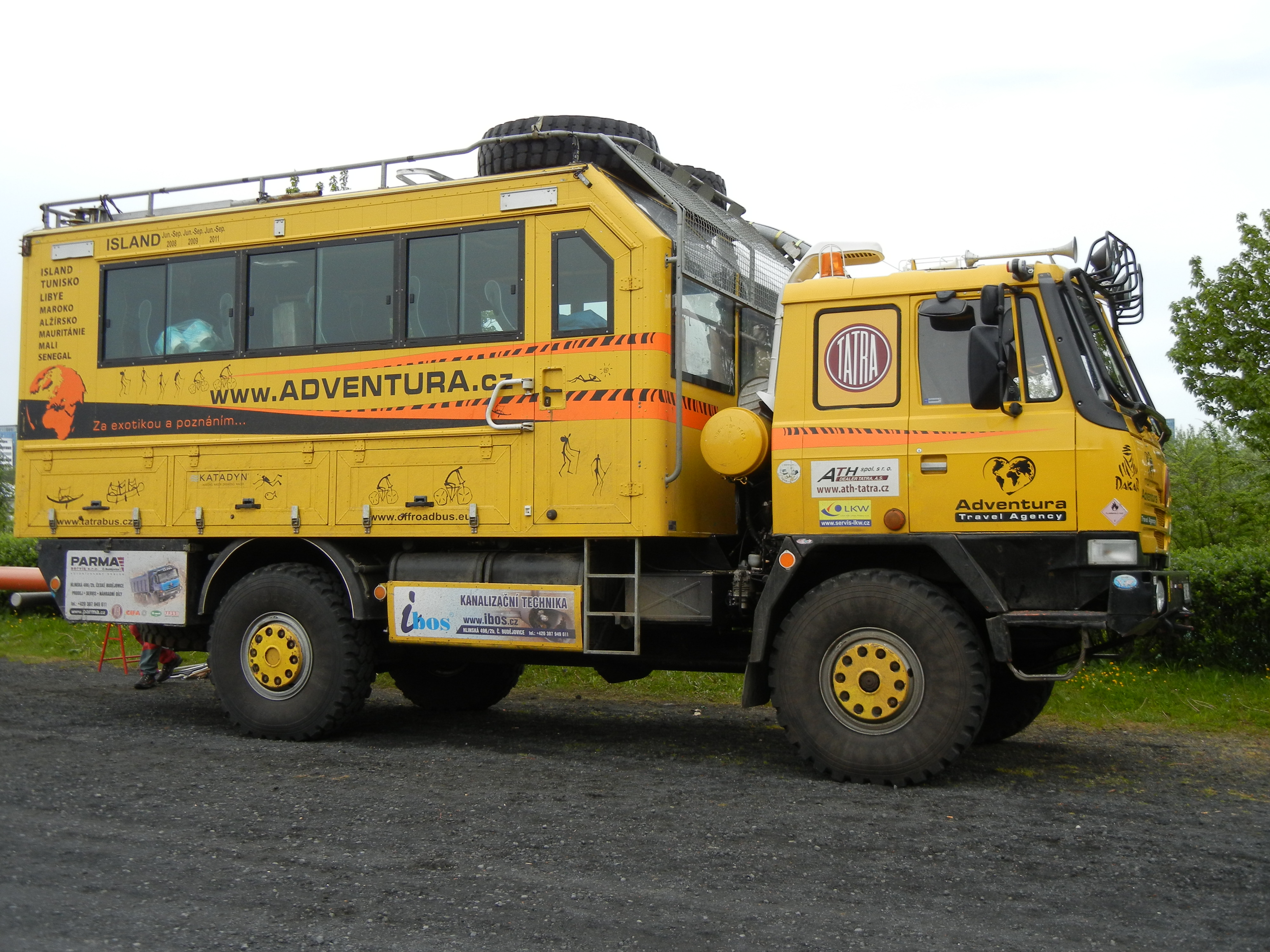 Expedition truck in Iceland