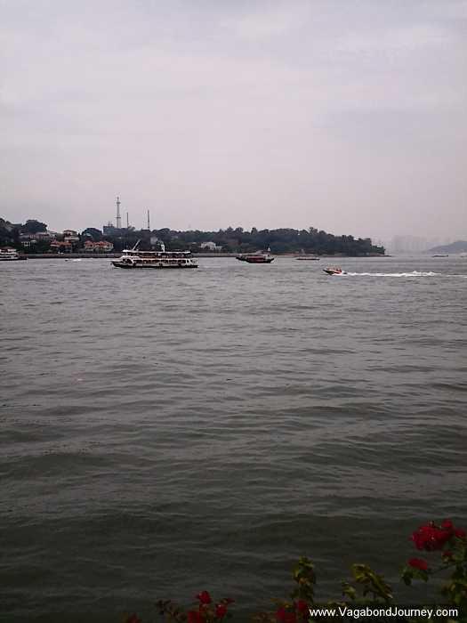 Ferries cruising around Xiamen