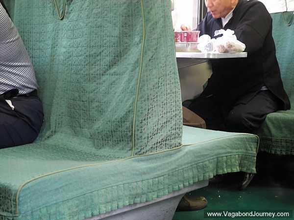 Upright seats in hard seat class