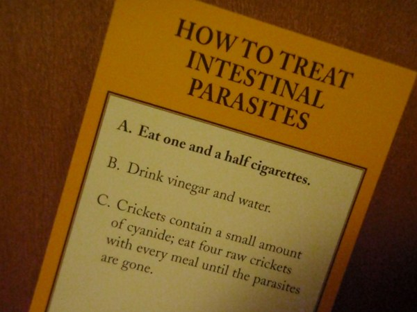 How to treat parasites