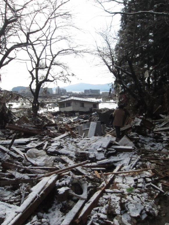 Japan tsunami destruction