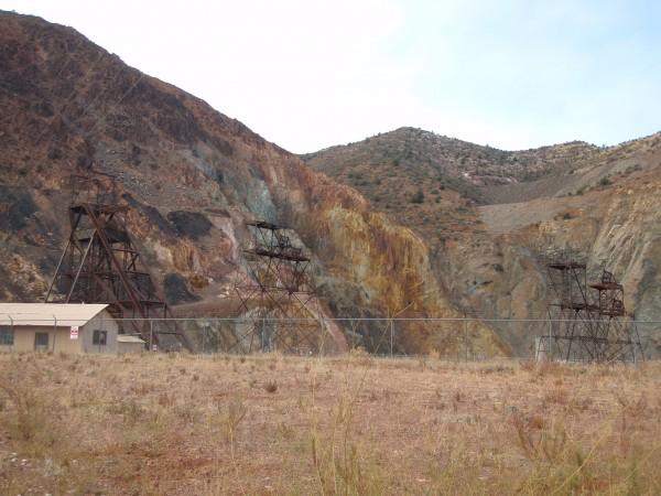 Open pit mine in Jerome Arizona