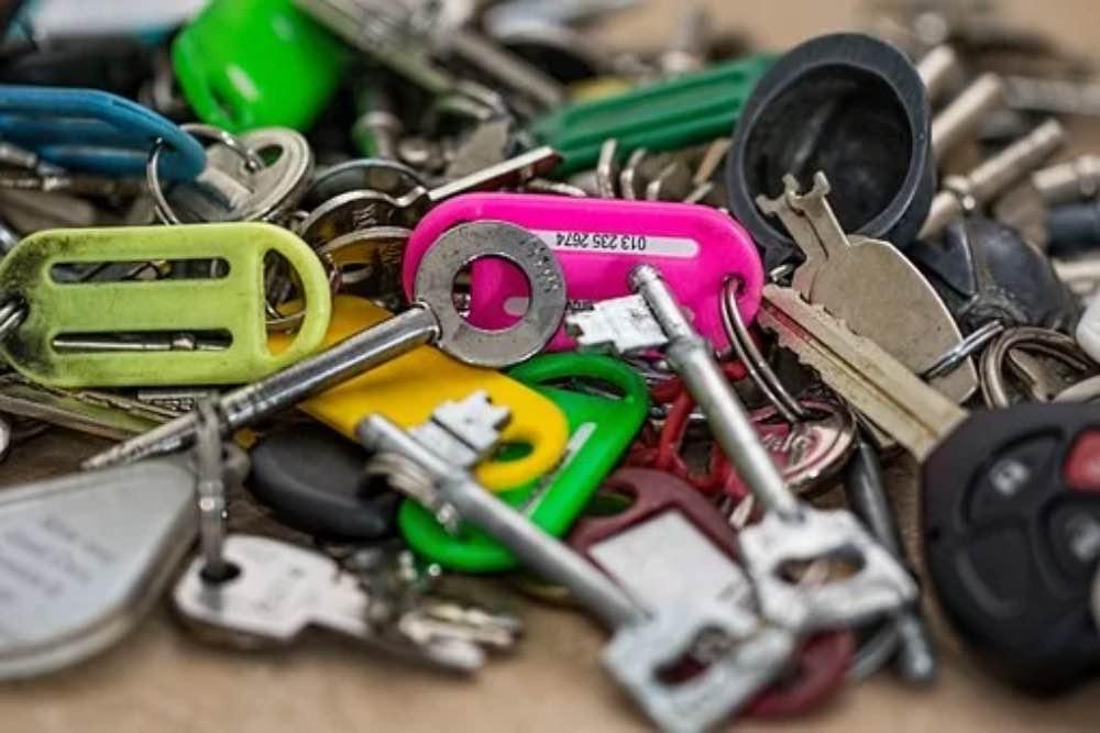 Keys pile