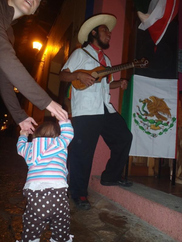 Petra dancing in Mexico