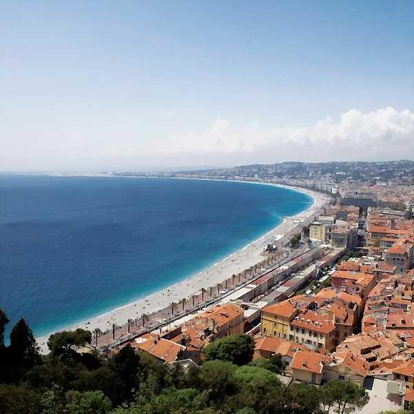 Coastline of Nice, France