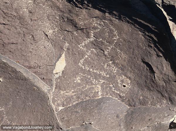 Petroglyph of something