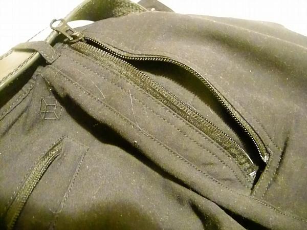 Zippered pocket.