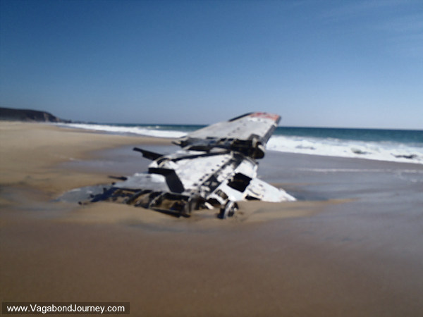 Plane crash on the beach of Ventanilla, Mexico