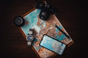 Map camera smartphone