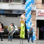 Stilt walker in Bogota