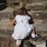 Toddler Climbing Pyramid