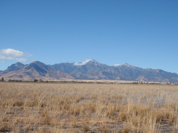Moutains on USA border near Palominas Mexico