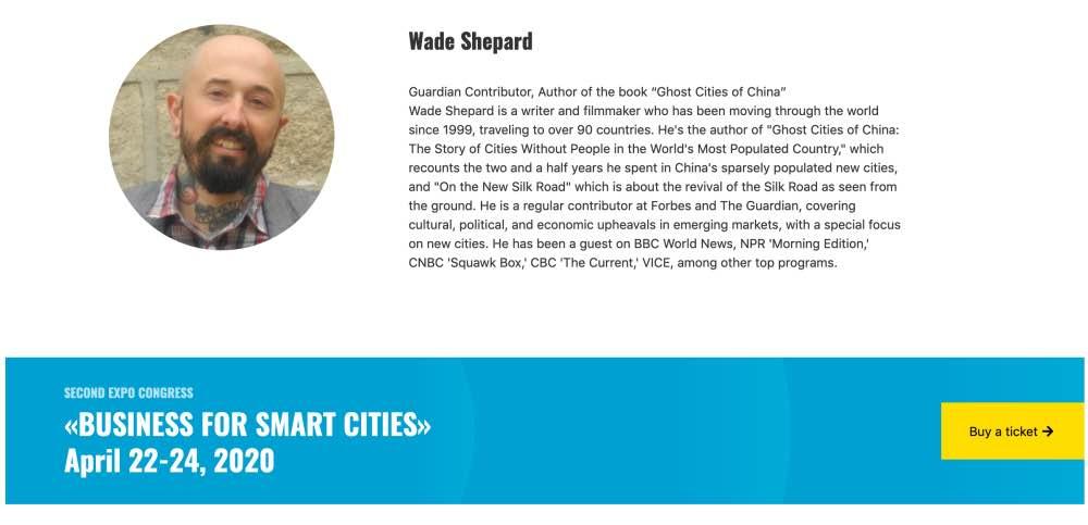Wade Shepard speaking engagement