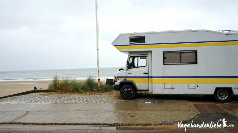 Wendy am Omaha-Beach in der Normandie