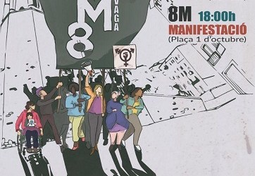 Manifestació 8 març Girona