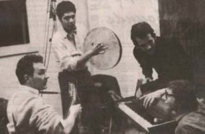 Bruce Langhorne med Fred Neil, Felix Pappalardi, and Jack Nitzsche. Kilde: fredneil.com.