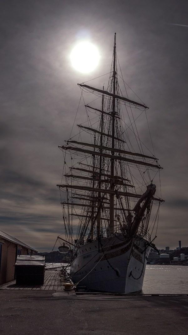 Skoleskipet «Sørlandet», Kristiansand. Foto: David Sylvian, 2015