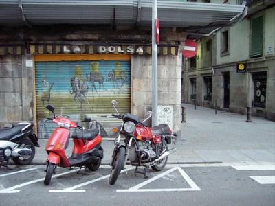 garage door in Barcelona