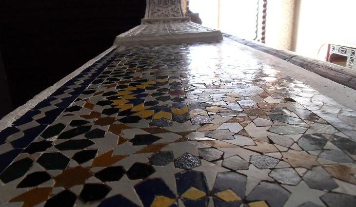zellij, Moroccan tile work, Morocco, House in Fez