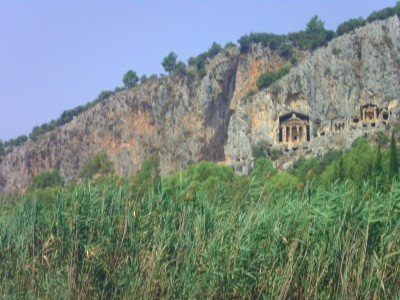 carved rock tombs Turkey