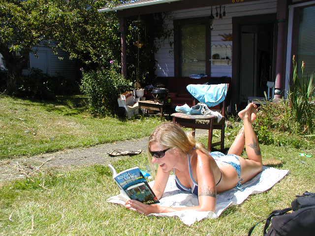 reading books by Vago Chris Damitio