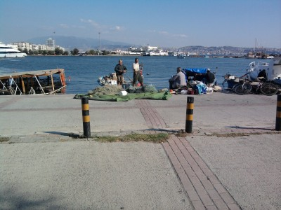 Fishermen in Izmir, Turkey