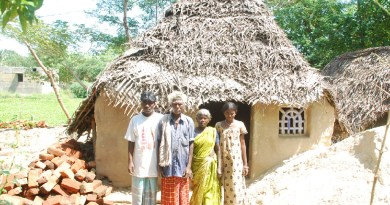 Building a village in India
