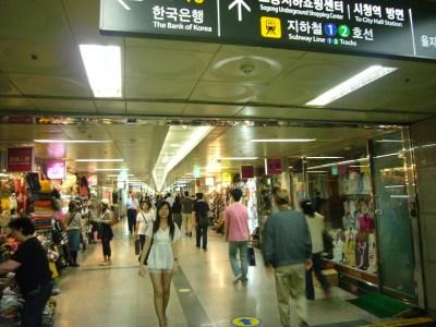 shopping underground Seoul
