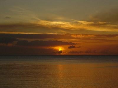sunset in Mauritus